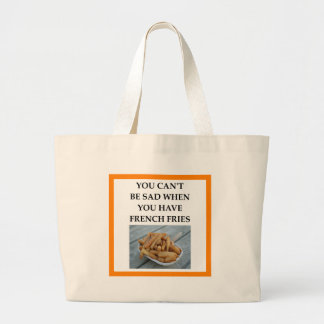FRENCH FRIES LARGE TOTE BAG