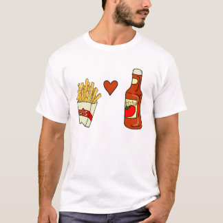 French Fries Love Ketchup T-Shirt