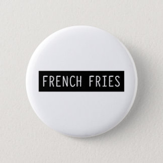 French Fries Old Typewriter Letters 6 Cm Round Badge