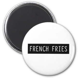 French Fries Old Typewriter Letters Magnet