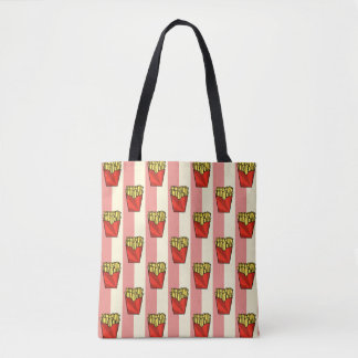 French Fries Pattern Tote Bag