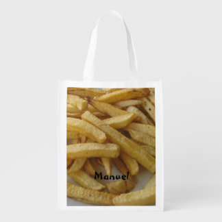 French Fries Personalized Reusable Grocery Bag