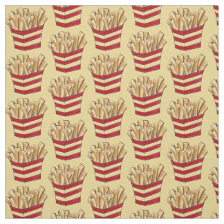 French Fry Fries Fried Potatoes Fast Food Fabric