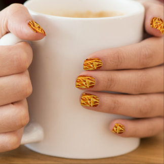 French Fry Nails Nail Wraps