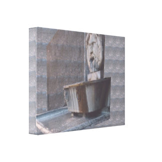 FRENCH Fun Mouth Watering Fountain Vintage sparkle Stretched Canvas Prints