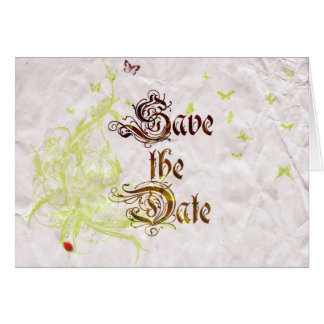 French Garden Save The Date 1 Greeting Card