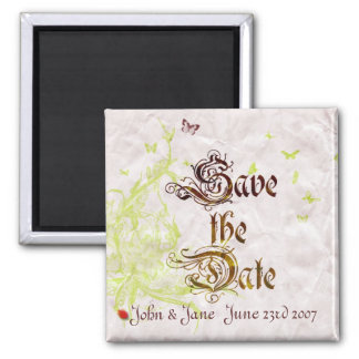 French Garden Save the date Magnet