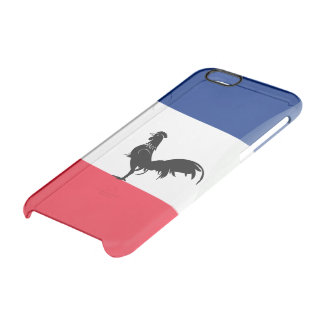 French glossy flag clear iPhone 6/6S case
