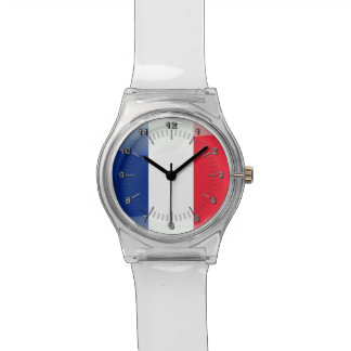 French glossy flag watch