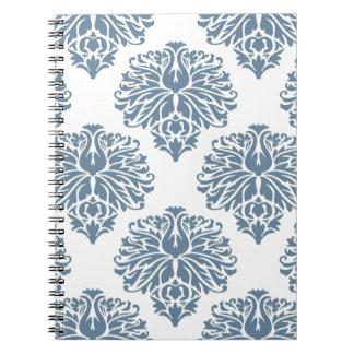 French Gray Elegant Damask Note Books