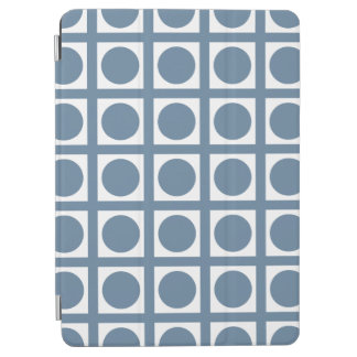 French Gray Elegant Grid Dots iPad Air Cover
