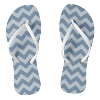 French Gray Moroccan Moods Chevrons Thongs