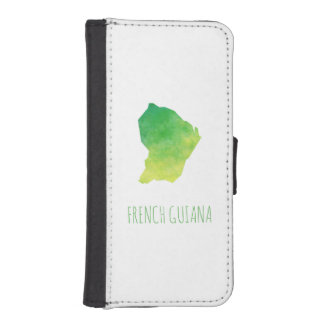 French Guiana iPhone SE/5/5s Wallet Case