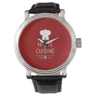French Haute Cuisine Gourmet Foodie Wristwatch