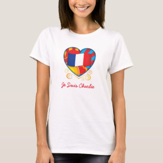 French Heart Je Suis Charlie T-Shirt