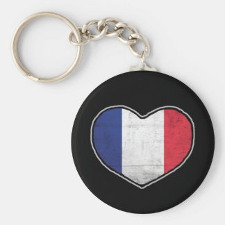 French Heart Key Ring