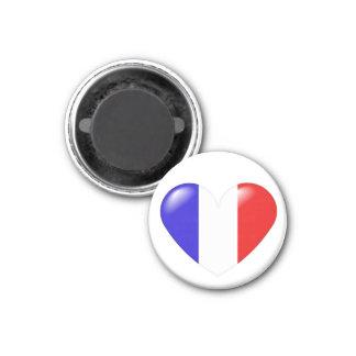 French heart magnet - Coeur françois