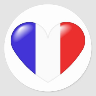 French heart sticker - Coeur français