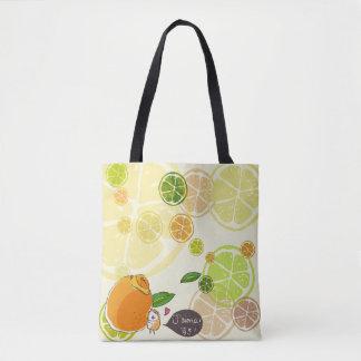 French Hedeghog's Orange Days Tote Bag
