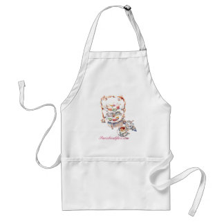 French High Tea Time Parisbreakfast.com Standard Apron