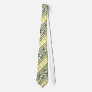 French Horn and Art Noveau Design Tie