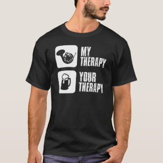 french horn is my therapy T-Shirt