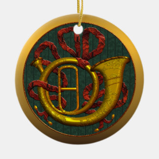 French Horn Mississippi State Christmas Ornament