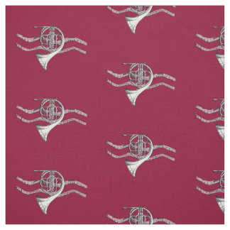 French Horn Music Fabric