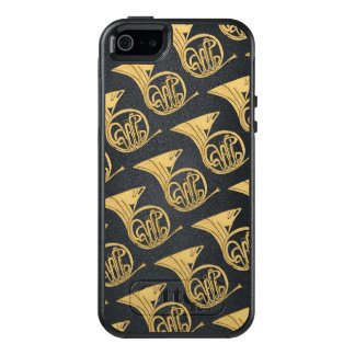 French Horn Musical Instrument Drawing OtterBox iPhone 5/5s/SE Case