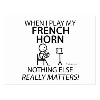 French Horn Nothing Else Matters Postcard
