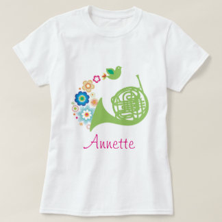 French Horn Personalized Music Gift T-Shirt