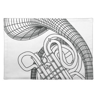 French horn place mat