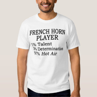 French Horn Player Hot Air T-shirts