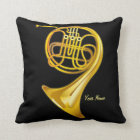 French Horn Player Personalised Music Gift Pillow