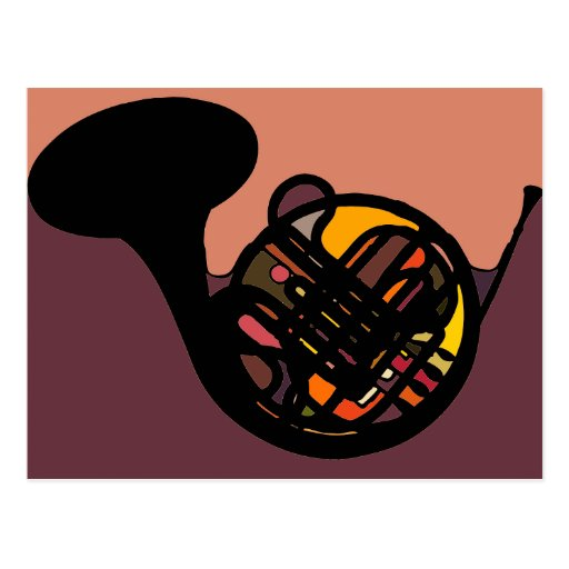 French Horn Post Cards