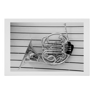 French Horn Poster