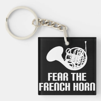 French Horn Quote Stocking Stuffer Gift Key Ring
