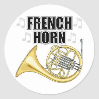French Horn Stickers