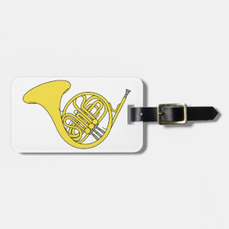 French Horn Travel Bag Tag