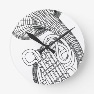 French horn wall clocks