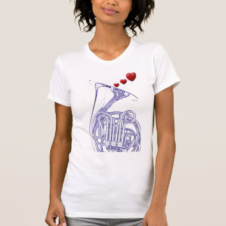 French Horn with Hearts Shirt