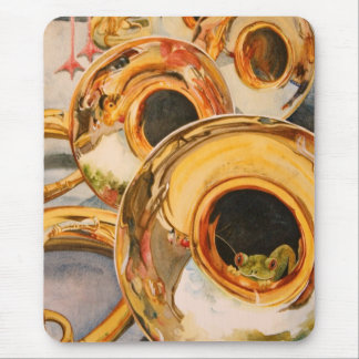 French Horns Musician Funny Frog Escape Artist Mouse Pad