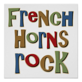 French Horns Rock Poster