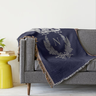 French Imperial Eagle Throw Blanket