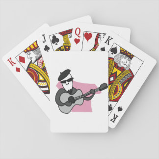 French Jazz Musician Playing Cards