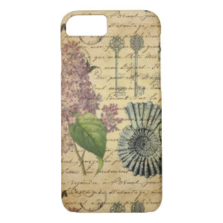 French keys seashell modern vintage French Lilacs iPhone 8/7 Case