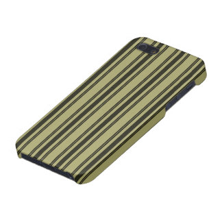 French Khaki Mattress Ticking Black Double Stripe Case For iPhone 5/5S