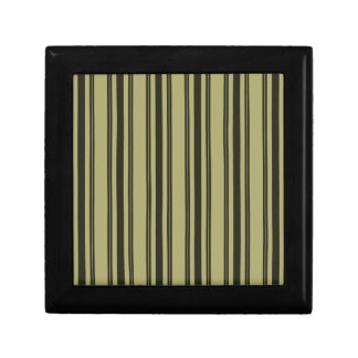 French Khaki Mattress Ticking Black Double Stripe Gift Box
