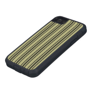 French Khaki Mattress Ticking Black Double Stripe iPhone 5 Covers