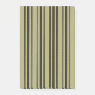 French Khaki Mattress Ticking Black Double Stripe Post-it® Notes